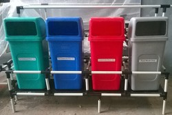 Colour Coded Dustbins With Stand