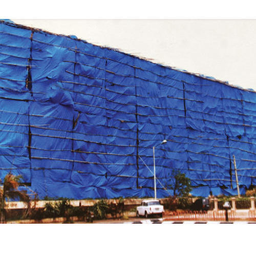 HDPE Blue Construction Tarpaulin, Thickness: 14/18 Mm