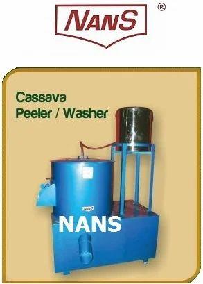 Nans Cassava Skin Peeling Machine, Capacity: 20-40 Kg/Hr