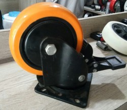 Orange PU Caster Wheel