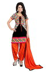 56c90c3ed8 Printed Straight Style Daily Office Wear Salwar Kameez Suits ...