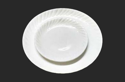 Polycarbonate And Melamine White u0026 Black Dinner Plate & Polycarbonate And Melamine White u0026 Black Dinner Plate Rs 72 /piece ...