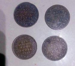 One Quarter Anna 1908, 1925, 1934, 1936 Coin