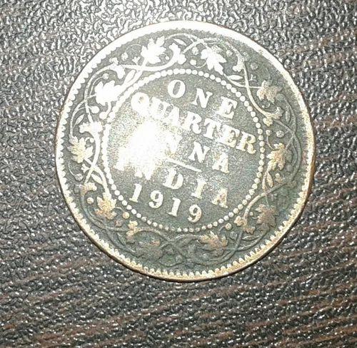 One Quarter Indian Anna 1919 King George V