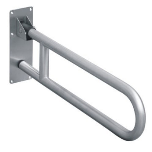 Clean India 304 Grade Stainless Steel Folding Toilet Grab Bar Rs