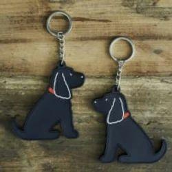 Dog Silicone Keyring