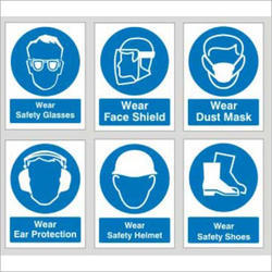 FOAM Vinyl Construction Site Safety Signs Board