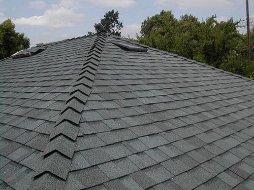 Natural Clay Fired In Kiln Asphalt Roofing Shingles Rs
