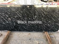 Black Marquina Marbles, Slab, Thickness: 25 Mm