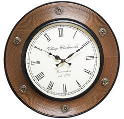 Wood Polish Carving Lining Clock