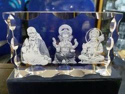 CentrumLaser Transparent Religious Crystal Cube
