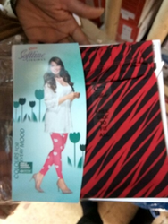Cotton Lycra Straight Fit Rupa Printed Leggings, Size: Free Size