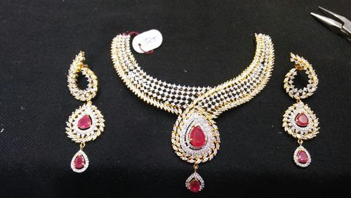 American Ruby Designer Bridal Set At Rs 5450 Piece S American