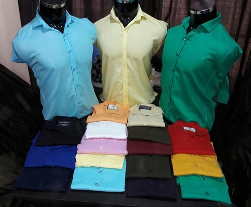 Men Plain Casual Shirts