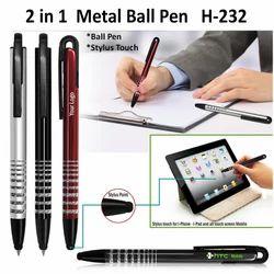 2 in 1 Metal Ball Pen H-232