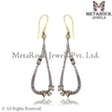 Pave Diamond Designer Earrings