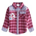 Full Sleeves Party Wear Kids Cotton Check Shirts