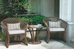 Spacious Cane Style Outdoor Wicker Coffee Set