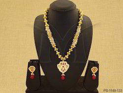 Stylish Ajmeri Single Thewa Necklace