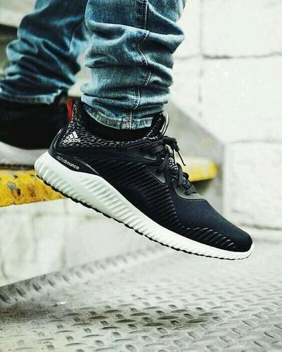 80ff30ec8 Black Men Adidas Alphabounce Sports Shoes