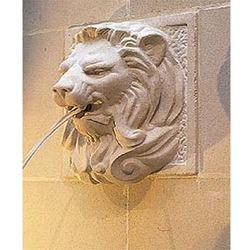 Beige/white, Pink Lion Wall Fountain