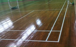 Polished Oak Wood Badminton Court Flooring