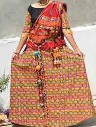 Rayon Embroidery Designer Mirror Work Garba Chaniya Choli, Dry clean
