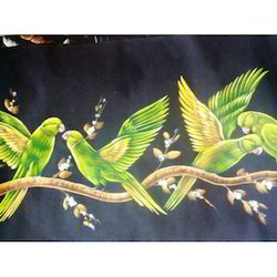 Painting Of Three Parrots