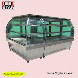 L-Shape Display Counter Non AC
