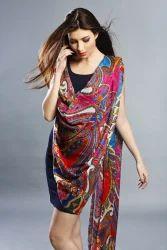 Digital Printed Silk Wool shawls