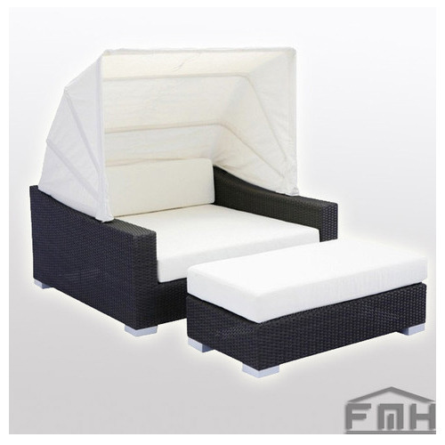 Outdoor Wicker Canopy Bed - Aura & Outdoor Wicker Canopy Bed - Aura at Rs 92999 /set | West Kamal ...