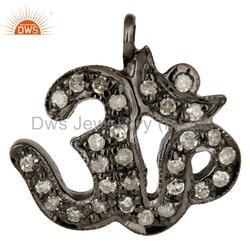 Pave Dimond Silver Charms