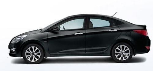 Verna Car In Phantom Black Colour