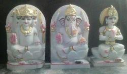White Makrana Marble Laxmi Ganesh Statue
