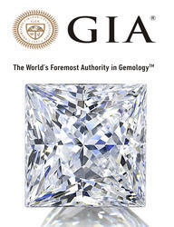 Soliatire Princess Cut GIA Certified Diamond