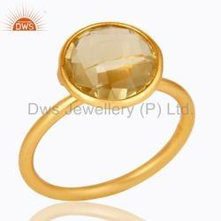 Designer Gold Plated Gemstone Ring