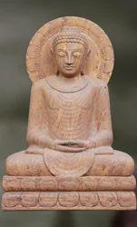 Sandstone Buddha Dhyani Mudra Sculpture
