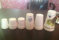Printed Paper Water Glass