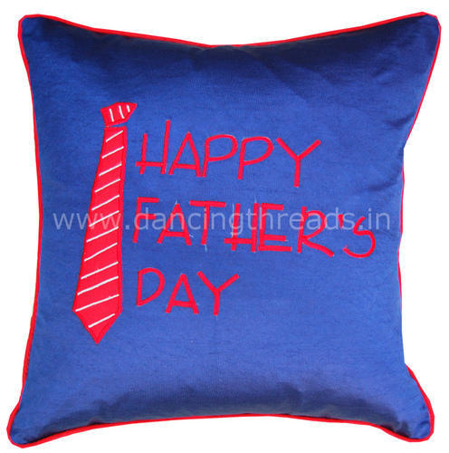 Father' s Day Gift - Embroidered Cushion - Dancing Threads