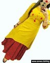 Chiffon And Crepe Patiala Suit