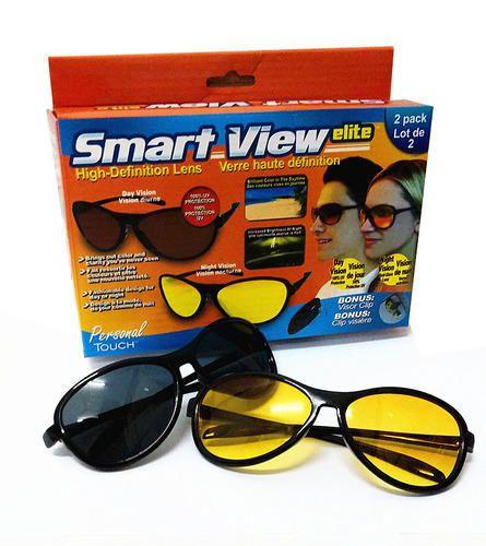 63868fddba Kawachi 2 Piece Day And Night Driving Anti-Glare Glasses Unisex Goggles Set