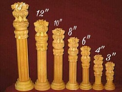 Ashoka Pillar Wooden Handicraft
