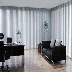 Multicolor Fabric Vertical Blinds, Size: 11 Sq Ft
