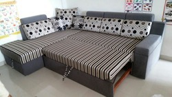 L Corner Sofa Cum Bed with Storage