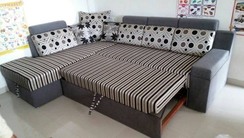 L Corner Sofa Bed With Storage