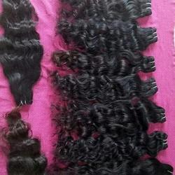 Indian Temple Curly Human Hair Extensions