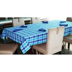 Rectangular Cotton Yarn Dyed Table Cloth, Size: 60 x 90 inch