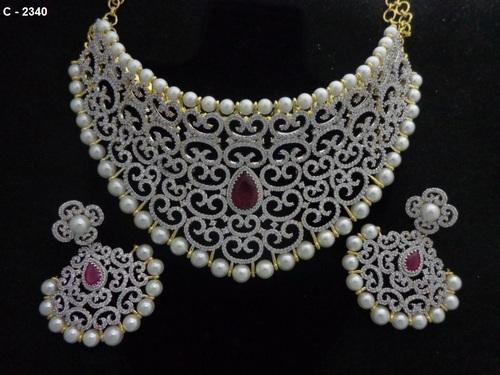 American Diamond Jewellery Indiacz At Rs 3200 Piece