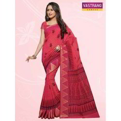 66f1e8a6f6 Red Formal Wear Cotton Designer Saree, With Blouse Piece, Rs 1169 ...