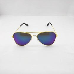 6b38bcb4150 Green Mercury Lens In An Indian Aviator Style Gold Frame Sunglass